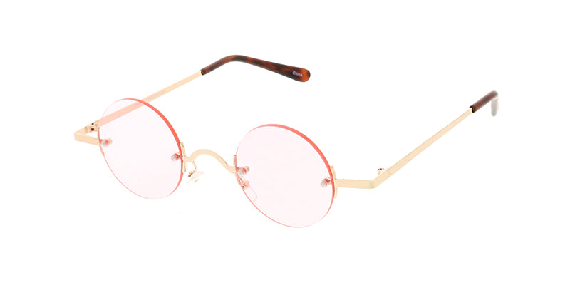 4640COL Unisex Round Steampunk Rimless Frame w/ Color Lens