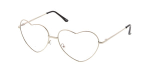 4643HRT/CLR Women's Metal Heart Frame Clear Lens