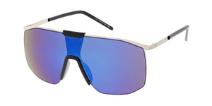 4654RV Unisex Metal Large Shield w/ Color Mirror Lens