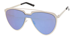 4658RV Unisex Futuristic Metal Shield w/ Color Mirror Lens