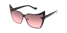 4664COL Women's Metal Devil Rimless Shield w/ Two Tone Lens