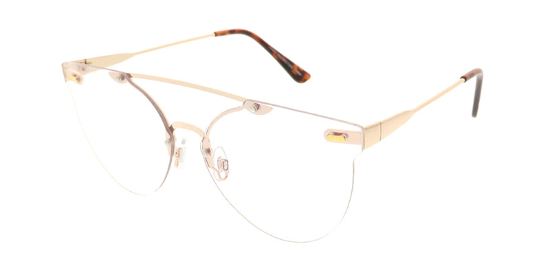 4670CLR Unisex Metal Rimless Frame w/ Clear Lens
