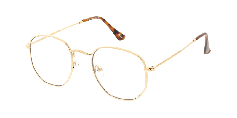 4673CLR Unisex Classic Metal Rounded Square Small Frame w/ Clear Lens