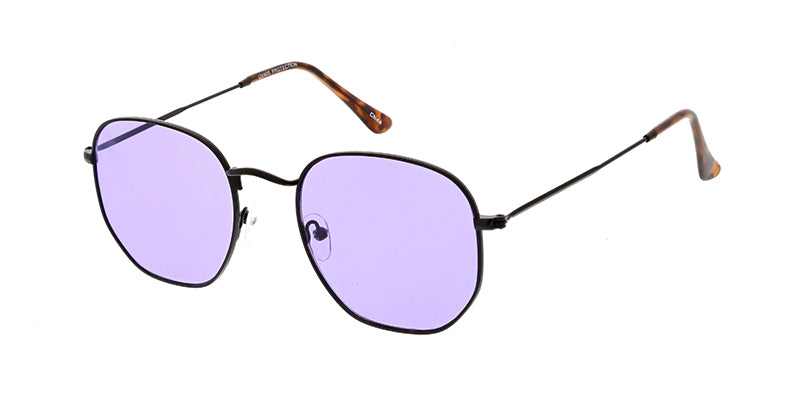 4676COL Unisex Classic Metal Rounded Square Medium Frame w/ Color Lens