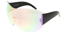 4679RV Women's Metal Oversize Shield w/ Color Mirror Lens