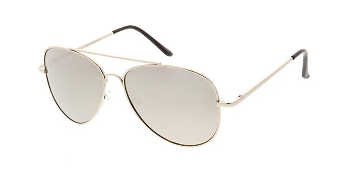 4685MIR/MH Unisex Metal Large Silver Aviator w/ Silver Mirror Lens (Single Color)
