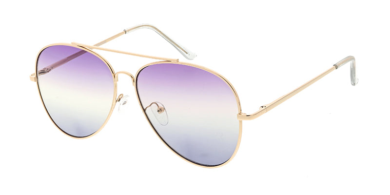 4691COL/MH Women's Metal Large Aviator w/ Tri Color Lens