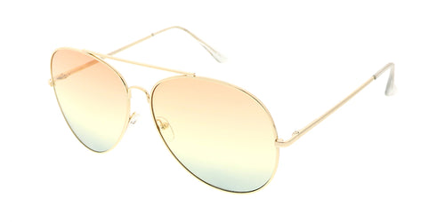 bde1d5401c 4692COL MH Women s Metal Oversize Aviator w  Tri Color Lens