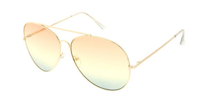 4692COL/MH Women's Metal Oversize Aviator w/ Tri Color Lens