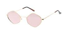 4694REV Unisex Metal Small Diamond Wire Vintage Inspired Hipster Frame w/ Spectrum Color Mirror Lens