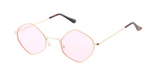 4695COL Unisex Metal Small Diamond Wire Vintage Inspired Hipster Frame w/ Color Lens