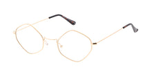 4696CLR Unisex Metal Small Diamond Wire Vintage Inspired Hipster Frame w/ Clear Lens