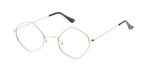 1ca8df4f14 4696CLR Unisex Metal Small Diamond Wire Vintage Inspired Hipster Frame w   Clear Lens