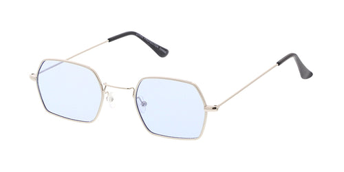 4699COL Unisex Metal Small Geometric Wire Vintage Inspired Hipster Frame w/ Color Lens