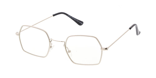 bd67dda10a 4700CLR Unisex Metal Small Geometric Wire Vintage Inspired Hipster Frame w   Clear Lens
