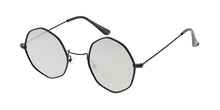 4702REV Unisex Metal Small Octagonal Wire Vintage Inspired Hipster Frame w/ Spectrum Color Mirror Lens
