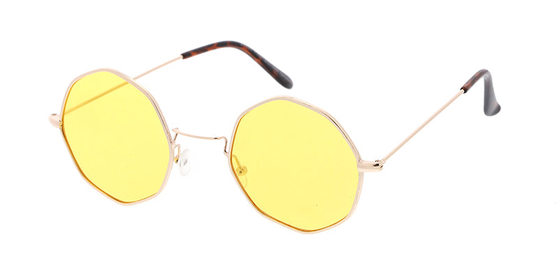 e7f79c8336d ... 4703COL Unisex Metal Small Octagonal Wire Vintage Inspired Hipster  Frame w  Color Lens ...