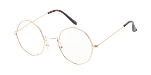 d15f38de60 4704CLR Unisex Metal Small Octagonal Wire Vintage Inspired Hipster Frame w   Clear Lens