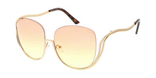 4706COL Women's Metal Drop Temple Vintage Inspired Frame / Two Tone Lens