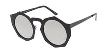 4721RV Women's Metal Large Geometric Thick Round Frame w/ Color Mirror Lens