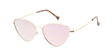4745RV Women's Metal Medium Thin Metal Cat Eye Frame w/ Color Mirror Lens