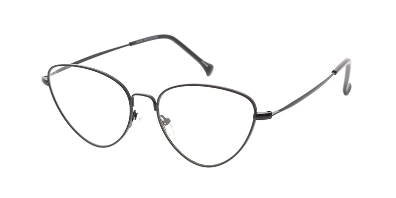 4747CLR Women's Metal Medium Thin Metal Cat Eye Frame w/ Clear Lens