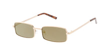 4756RV Unisex Metal Retro 90s Small Square Frame w/ Color Mirror Lens