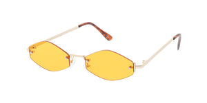 4760COL Unisex Metal Small Rimless Diamond Frame w/ Color Lens