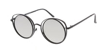4762RV Women's Metal Medium Double Wire Round Frame w/ Color Mirror Lens