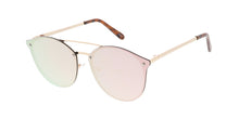 4765RV Unisex Metal Medium Rimless Round Hipster Frame w/ Color Mirror Lens