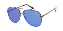 4769RV Unisex Metal Large Rimless Aviator w/ Color Mirror Lens