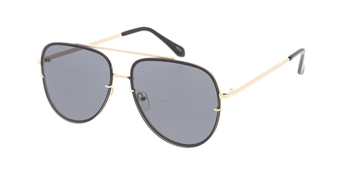 4772 Women's Metal Large Rimless Aviator