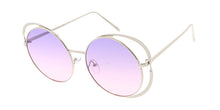 4776COL Women's Metal Large Double Rim Round Frame w/ Two Tone Lens