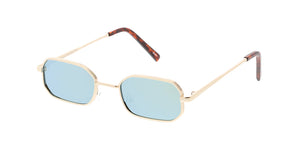 4790RV Unisex Metal Retro 90s Geometric Small Frame w/ Color Mirror Lens