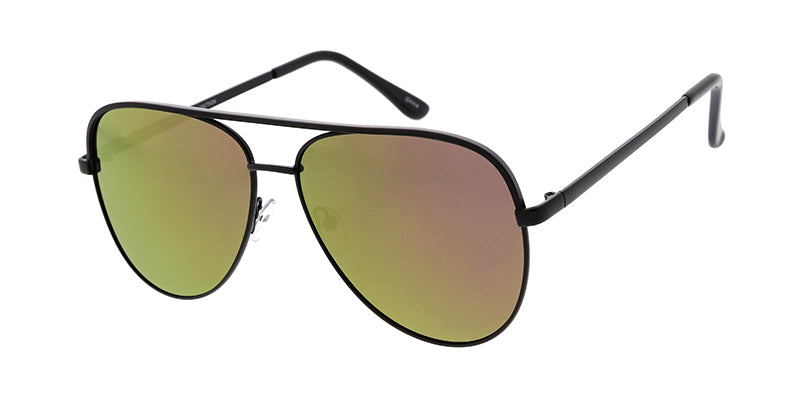 4807RV Unisex Metal Large Aviator w/ Color Mirror Lens