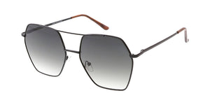 4810 Women's Metal Large Geometric Aviator