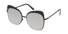 4812RV Women's Metal Large Flat Frame Cat Eye w/ Color Mirror Lens
