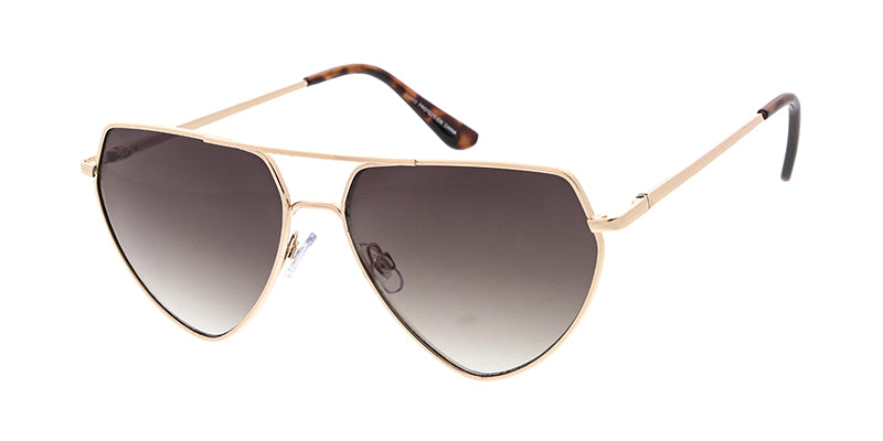 4827 Women's Metal Large Angled Aviator Frame