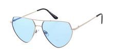 4828COL Women's Metal Large Angled Aviator Frame w/ Color Lens