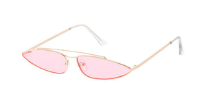 4830COL Women's Metal Small Triangular Frame w/ Color Lens