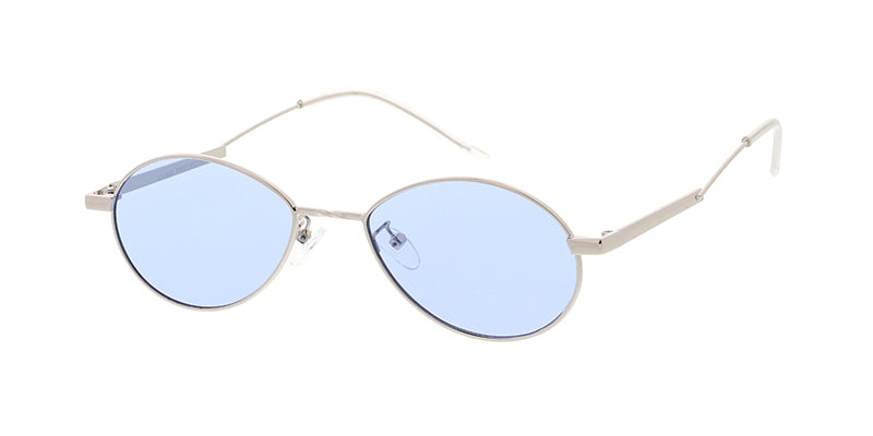 4834COL Unisex Metal Small Oval Frame w/ Color Lens