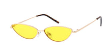 4861COL Women's Metal Small Thin Cat Eye Frame w/ Color Lens