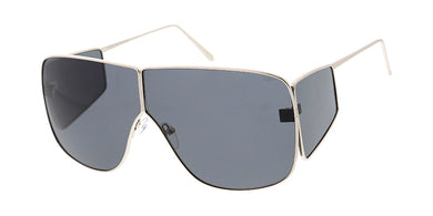 398f5dd97129 4881 Unisex Metal Oversized Rectangular Designer Inspired Frame w/ Side  Shields