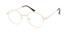 4890BLF/CLR Unisex Metal Medium Classic Round Hipster Blue Light Filtering Computer Glasses