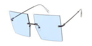 4931 Women's Metal Large Square Rimless Frame