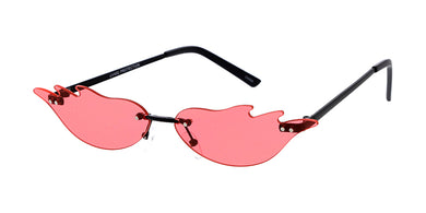 4957 Unisex Metal Small Flame Rimless Novelty Frame