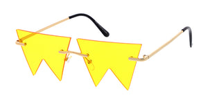 4959 Unisex Metal Small Zig Zag Rimless Novelty Frame
