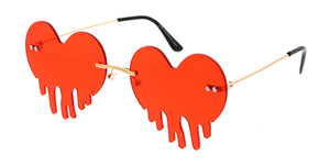4972HRT Women's Metal Rimless Dripping Hearts Novelty Frame