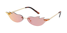 4982RV Unisex Metal Small Flame Novelty Lens w/ Color Mirror