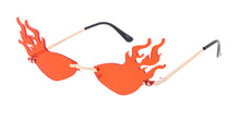 4991 Unisex Metal Small Flaming Lens Novelty Frame